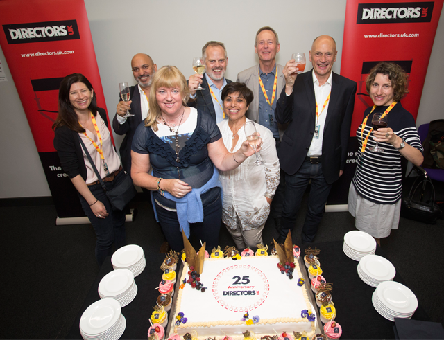 <i>Some of our current Board members celebrating 25 years of Directors UK at the Directors' Festival 2017</i>