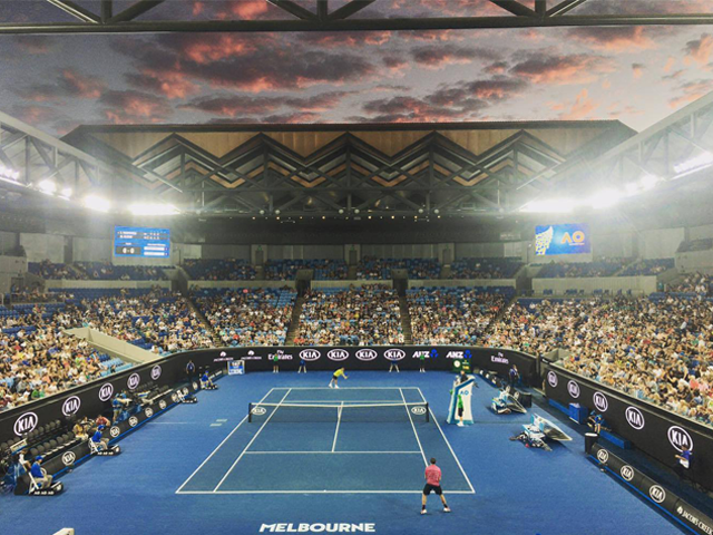 Margaret Court Arena, Austalian Open 2017. <i>Photo: Destination Alan</i>