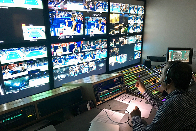 Control room at the US Open. <i>Photo: Simon Brooke</i>