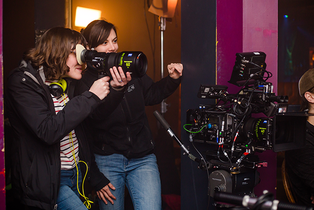 <i>On the set of</i> Evie.