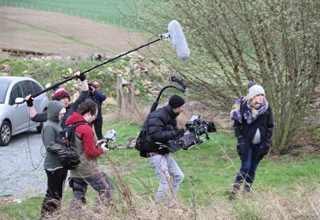 On the set of <i>Unearthed</i>.