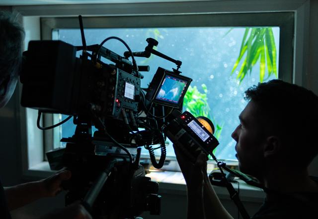 On the set of <i>The Last Mermaid</i>.