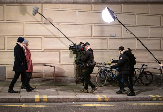 On the set of <i>How Can I Forget</i>. Photo: Micky Vissers.