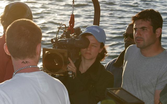 On the shoot of <i>Donkey Punch</i>. Photo: Olly Blackburn