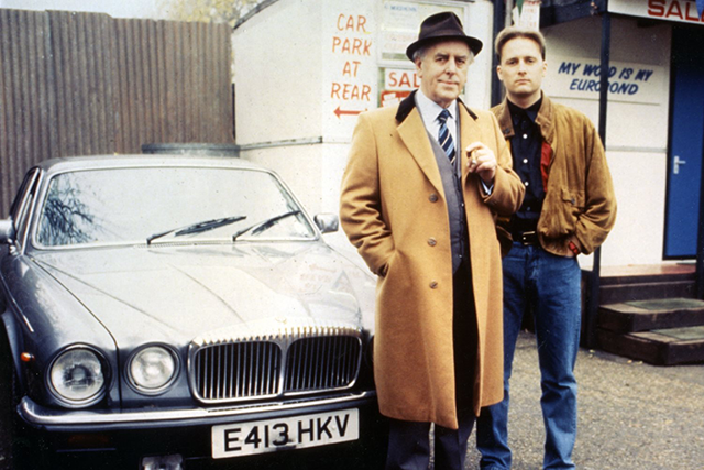 George Cole and Dennis Waterman starred in <i>Minder</i>. Photo: Pictorial Press Ltd / Alamy Stock Photo.