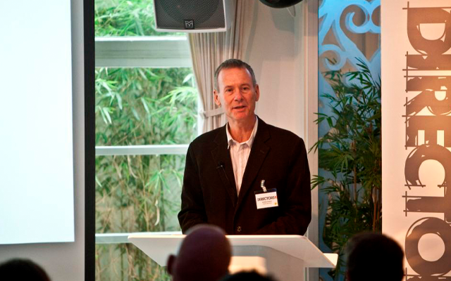 Andrew speaking at the launch of the Directors UK membership scheme in 2011.