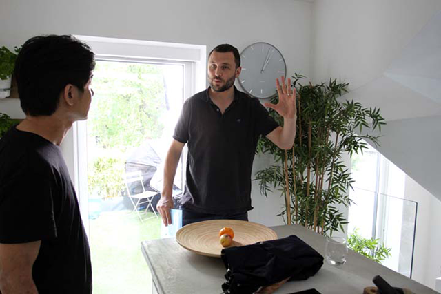 Nick Norman-Butler on set for his short film 'Tomoko'
