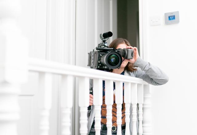 <i>Shooting a Challenge TRINITY film pre-COVID</i> Photo: Chris Andreou.