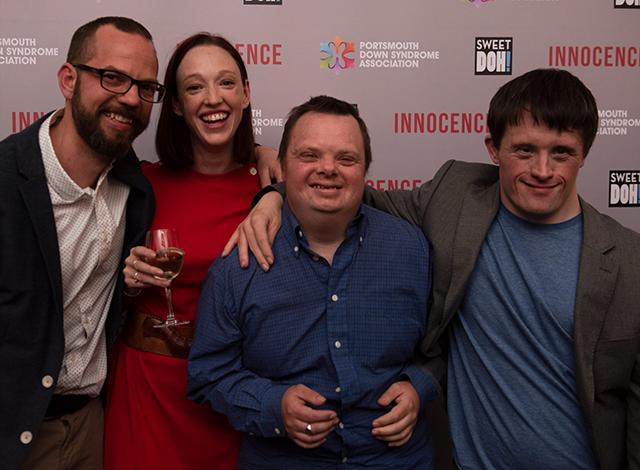 <i>Ben Reid, Liz Barnes, Tom Reid and Tommy Jessop at the BAFTA premiere of</i> Innocence.
